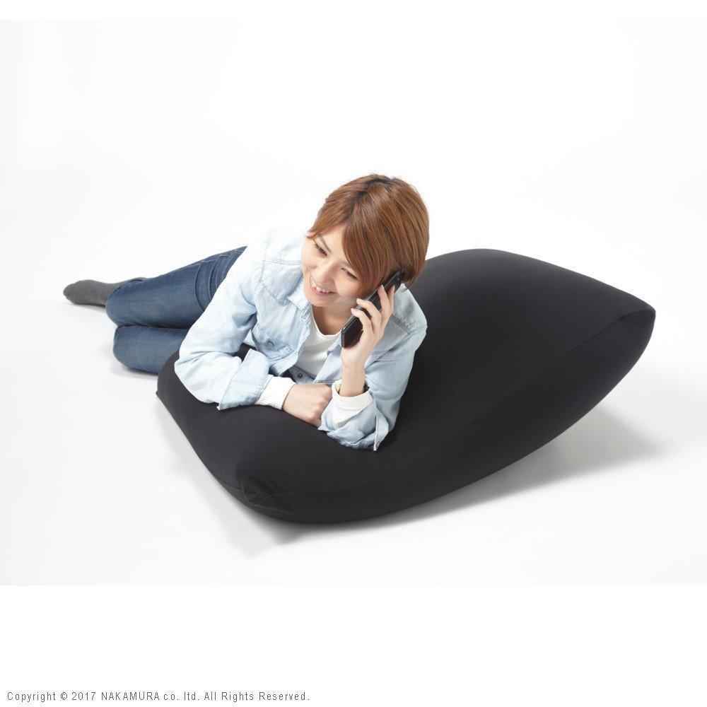 安心の日本製 特大 むにゅぽよ感触がたまらないビーズクッション 体にフィットする ビーズクッション XLサイズ (ブラック) B0768H9Y57 ブラック ブラック