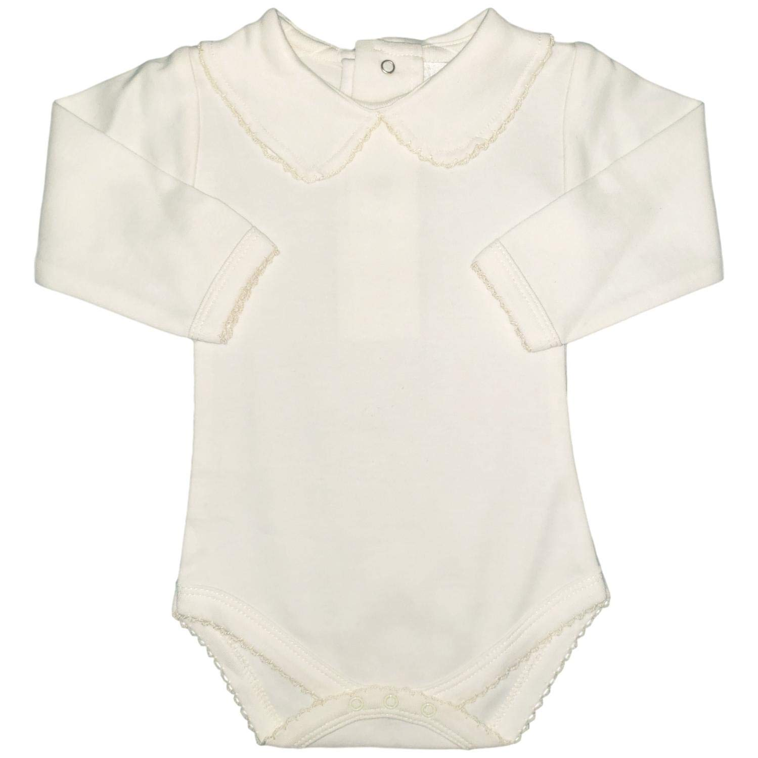 6ffc0eb8a Amazon.com: CARLINO Peter Pan Collared Bodysuit - Long Sleeve, Extra Soft,  6 Colors Available: Clothing