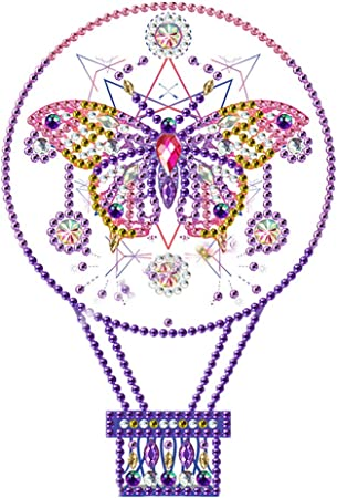 Butterfly LED Diamond Painting Lamp,DIY Special Shaped Beads Home Decoration Lamp with Tools and USB Cable 9.8x13.8in 1 Pack by Tangbr Night Light Cross Stitch Embroidery Mosaic Kit