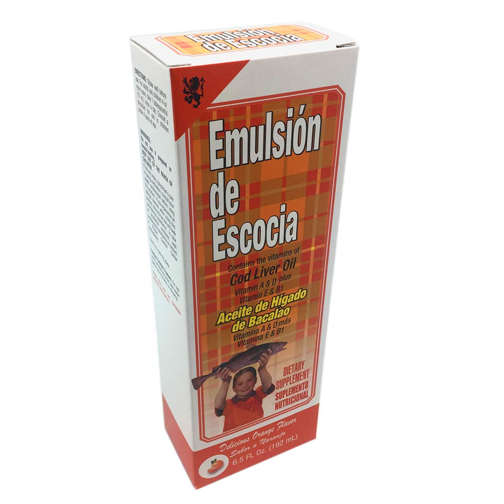 Emulsion De Escocia Orange 6.5 Oz. Cod Liver Oil