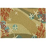 Homefires Accents Indoor Rug, 22 by 34-Inch, Coral Waves