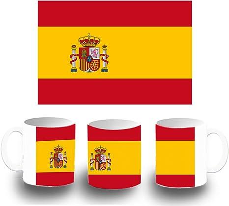 MERCHANDMANIA Taza DE PLASTICO Bandera ESPAÑA Pais Unido Plastic mug: Amazon.es: Deportes y aire libre