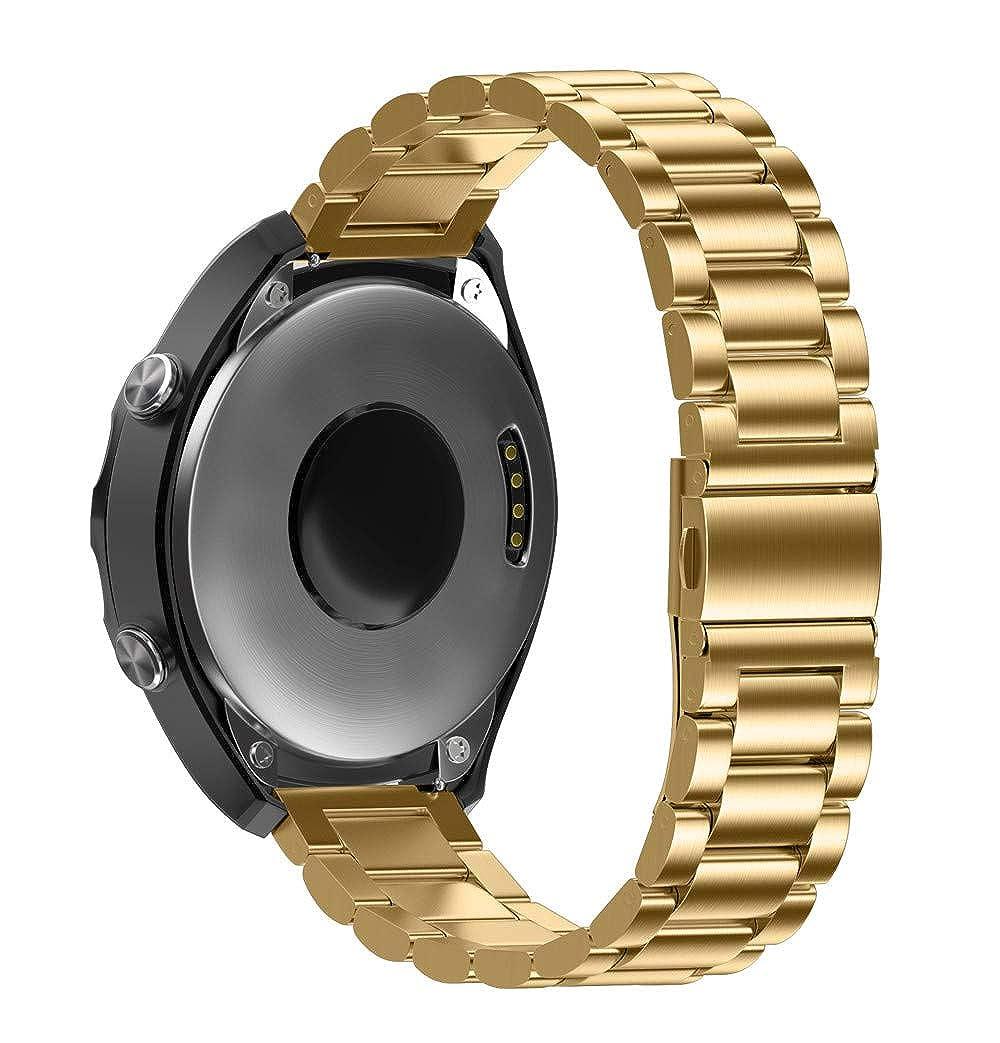 Bestow Tres Correas de Acero Inoxidable + Reloj de reparación + Manos Correas de Correa Correa desplegable(A): Amazon.es: Ropa y accesorios