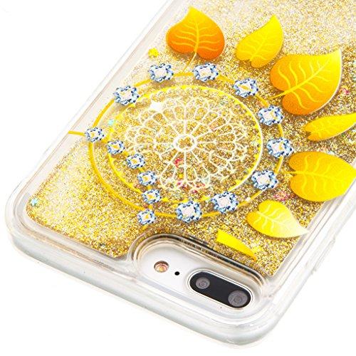 Trumpshop Smartphone Carcasa Funda Protección para Apple iPhone 5/5s/SE/5C + Dont Touch My Phone + TPU 3D Liquido Dinámica Sparkle Estrellas Quicksand Resistente a arañazos Caja Protectora hojas