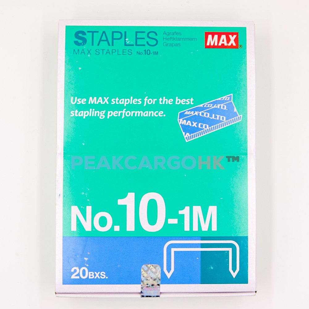 20 Boxes (20,000-Staples) Authentic Max Staples No.10-1M for Office Stapler MS90126