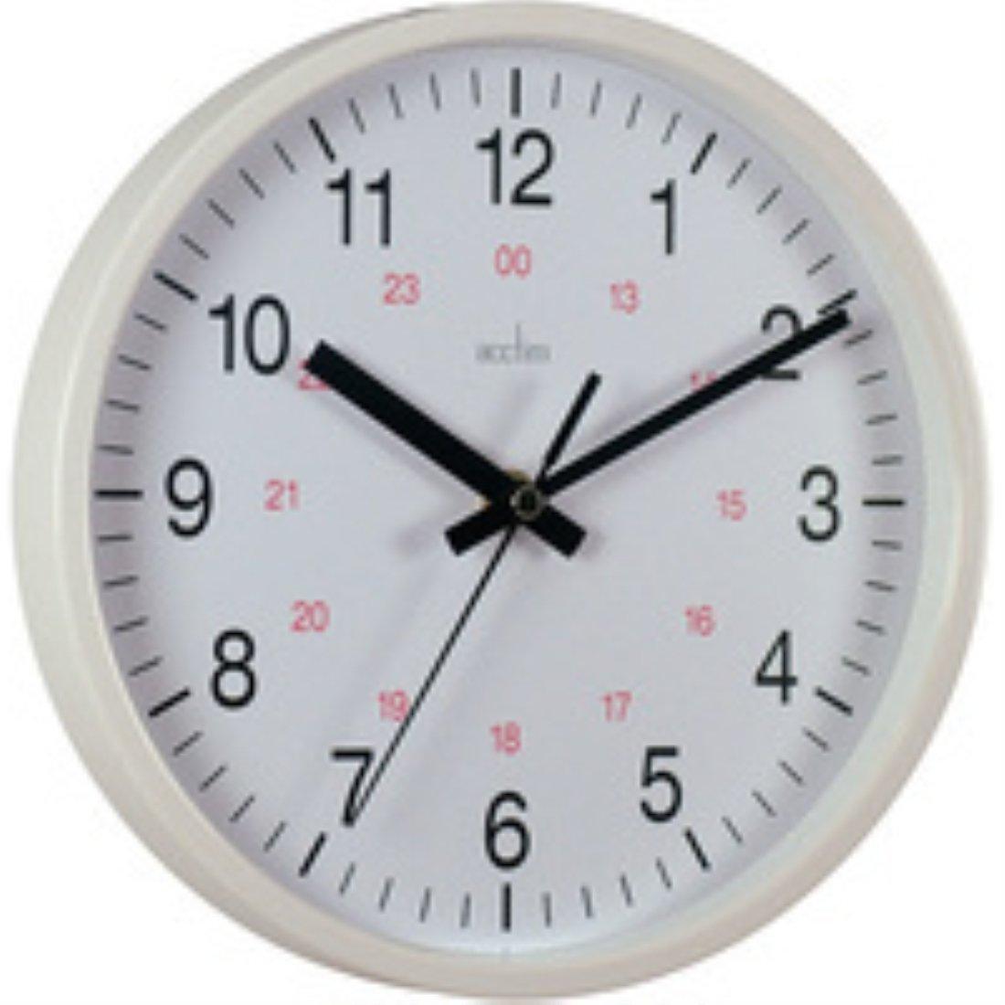 Acctim 21162 metro wall clock white amazon kitchen home amipublicfo Choice Image