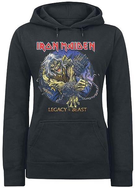 Iron Maiden Eddie Chained - Legacy Sudadera con Capucha Negro S: Amazon.es: Ropa y accesorios