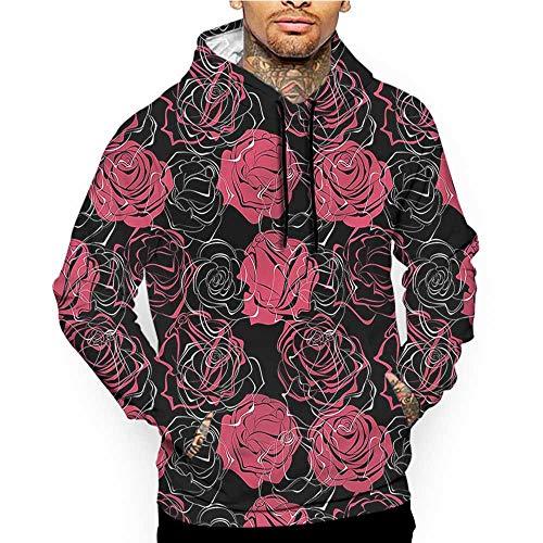 9f1d16cde Hoodies Sweatshirt Men 3D Print Floral,Grunge Old Roses Retro,Sweatshirts  for Teen Girls