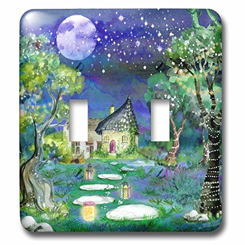 3dRose Sven Herkenrath Fantasy - Fairy Tale in Fantasy Graphic Lovers - Light Switch Covers - double toggle switch - Graphic Lover