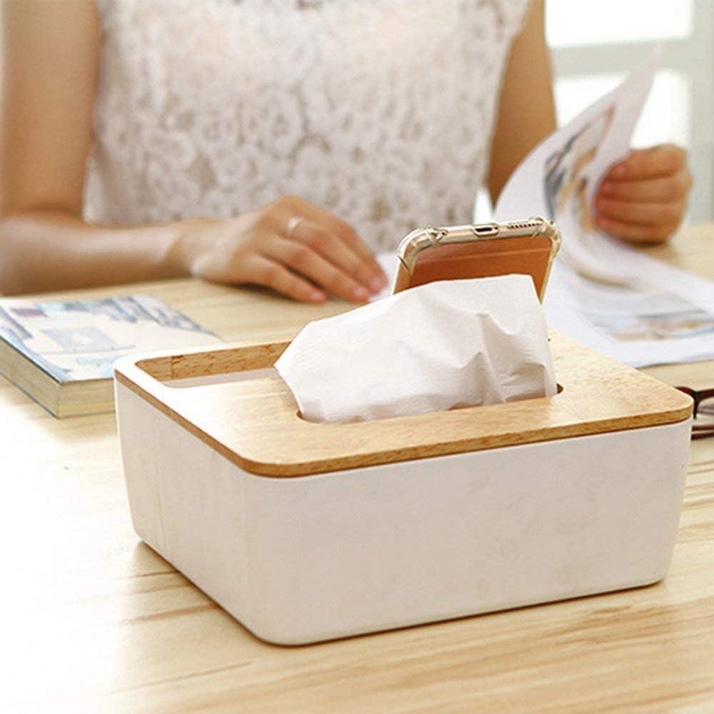 Caja para pa/ñuelos con Fondo extra/íble para la Caja de pa/ñuelos pr/áctica Multifuncional para el hogar y el autom/óvil ysister Dispensador de pa/ñuelos 22 x 19 x 0.9cm