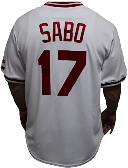 0d84b089 Image Unavailable. Image not available for. Color: Majestic Chris Sabo  Cincinnati Reds MLB Cooperstown Cool Base White Jersey