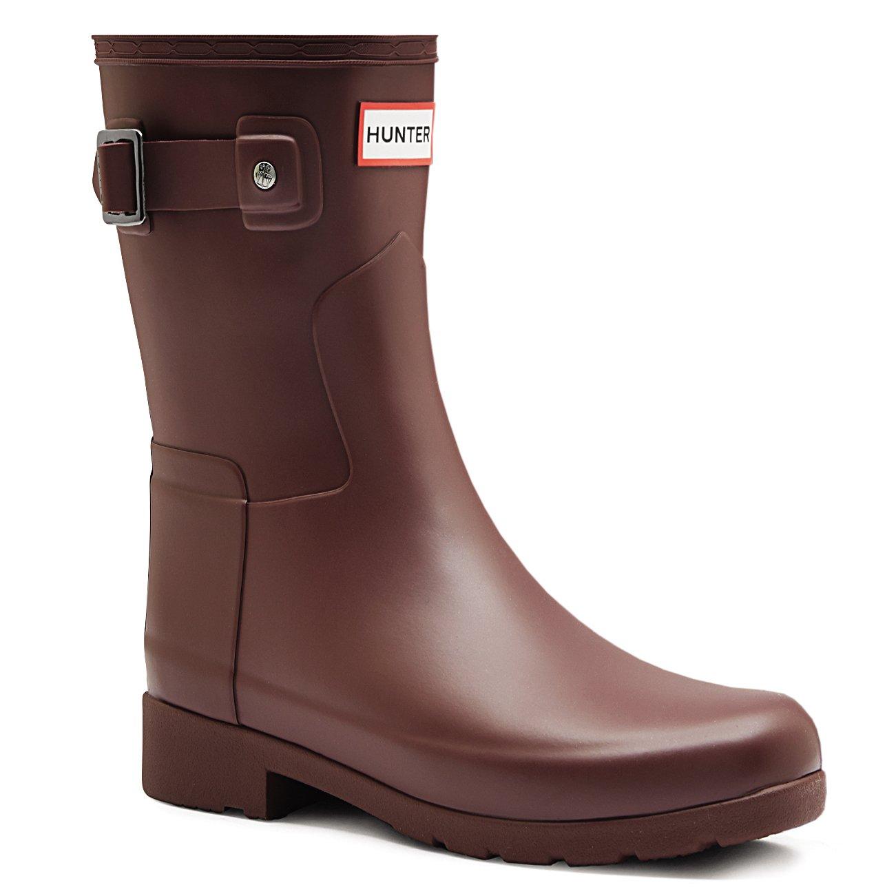 Hunter Womens Original Refined Short Wellingtons Snow Rain Winter Boots - dulse - 7