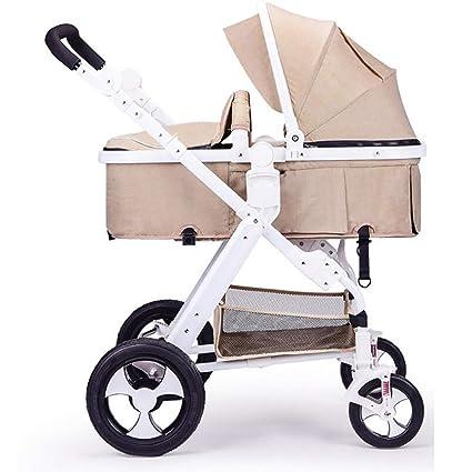 BABY CARRIAGE ZLMI Cochecito de bebé Ultra Ligero portátil Alto Paisaje Puede Sentarse/reclinar Choque. Pasa ...