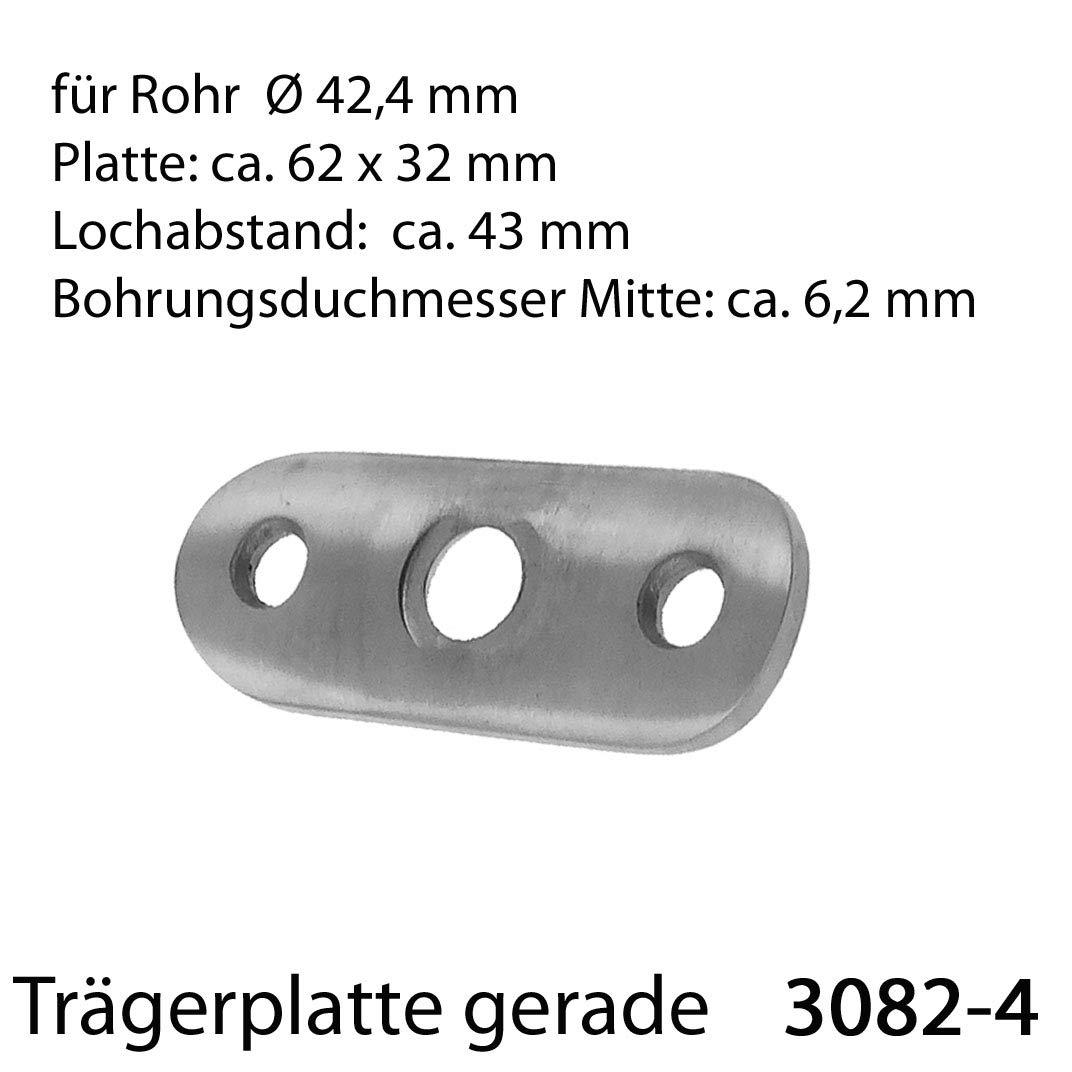 Edelstahl Handlauftr/äger Gel/änder Handlaufst/ütze Handlaufhalter Teile /Ø42,4mm Modell:3082-7 Kugelring