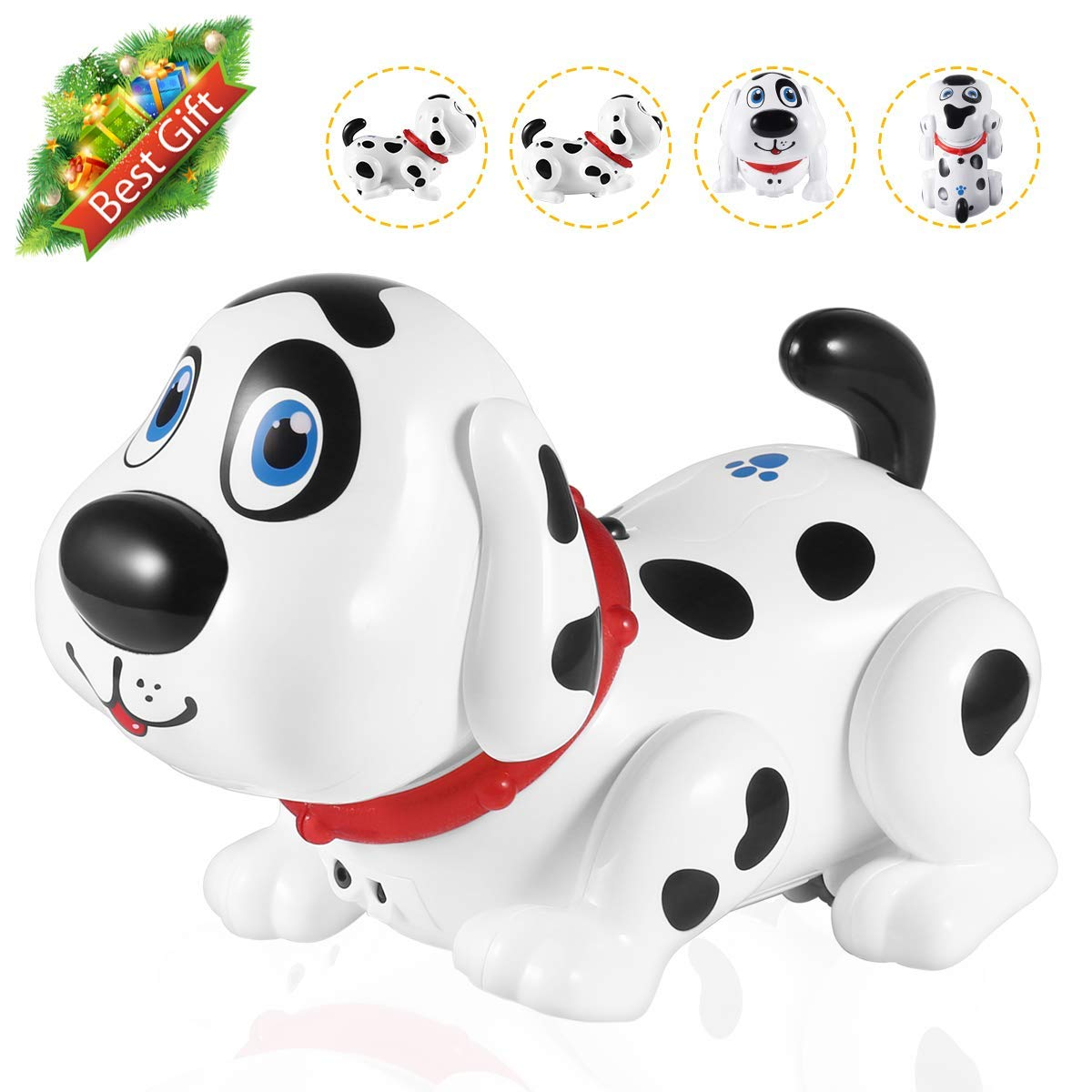 Electronic Dog,Interactive Puppy, Touch with Chasing, Walking, Dancing, Music, Interactive and Induction Toys for Boys or Girls Birthday Gifts by MIGO (Image #1)