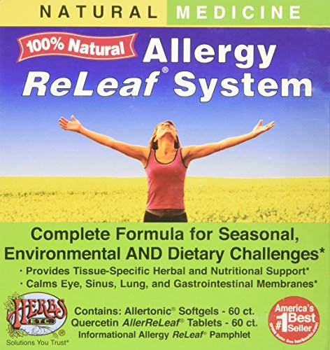 Allergy ReLeaf System - 2 Bottles (Allertonic & Quercetin) Herbs Etc 60+60 Softgel