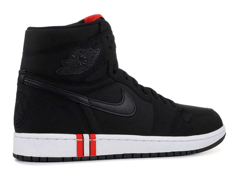 promo code ca461 b7605 Jordan Men's 1 Retro High, Black/Black-White-Challenge RED