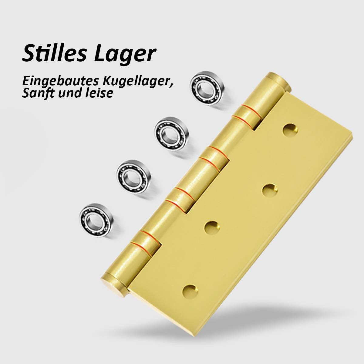 TSSS 1 Paar 100 x 76 mm Solide 56 Messing Scharniere Verdicktes T/ürangeln Steckverbinder Softclose Kugellager