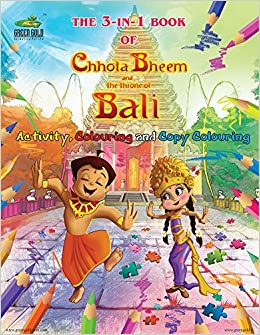 buy 3 in 1 book of chhota bheem and the throne of bali book online