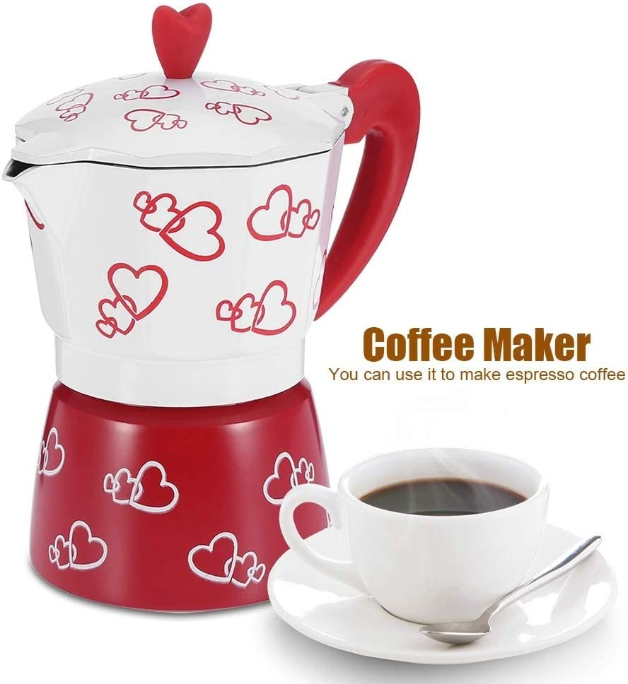 S KSTE Aluminum Durable Espresso Coffee Maker Kettle Pot Household Office