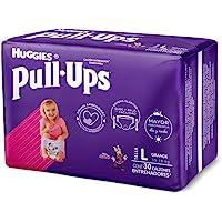 Huggies Pull-Ups Calzoncitos Entrenadores para Niña, Talla Grande, 1 Paquete con 30 Calzoncitos Desechables, Ideal para niñas de entre 15 a 18 kg