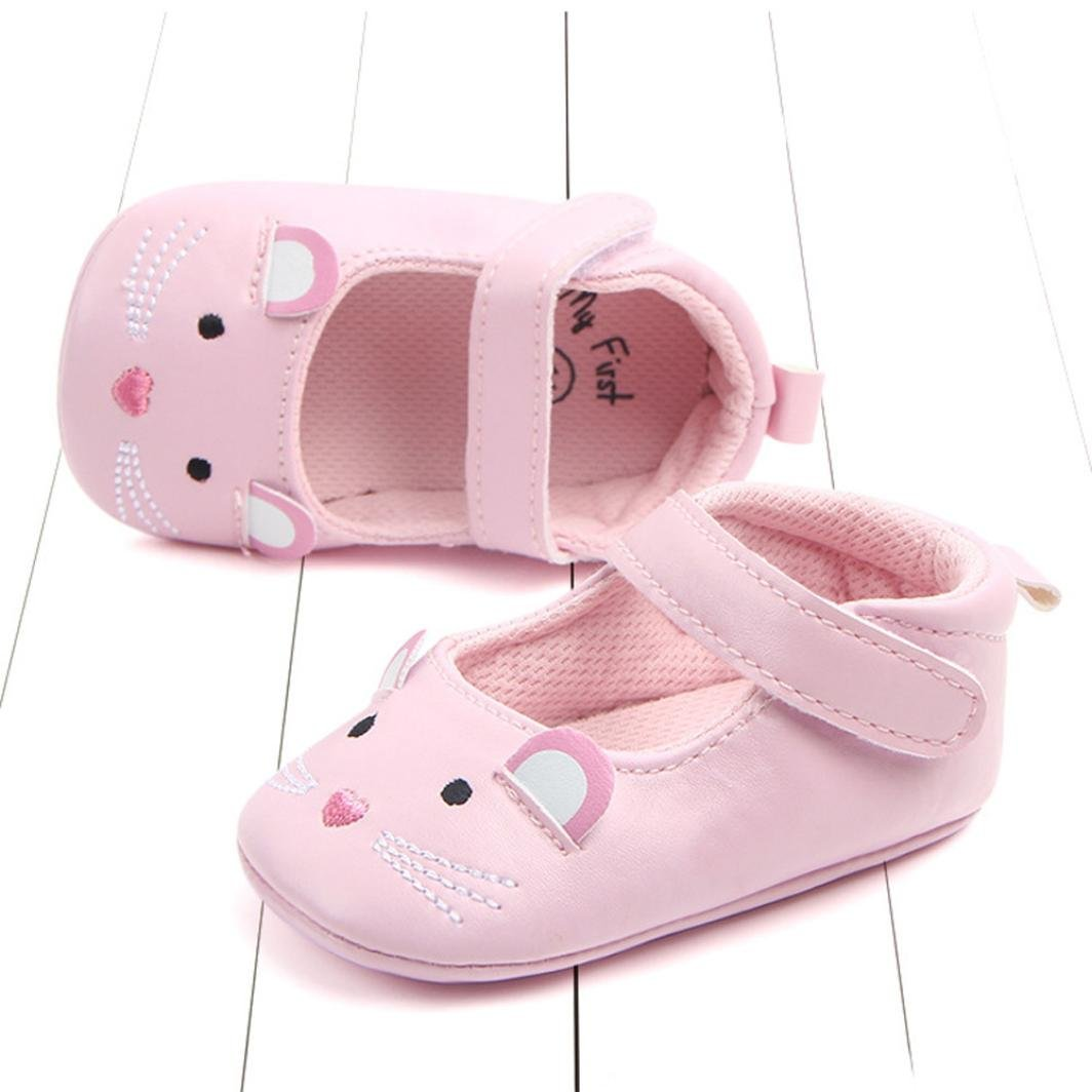 Sunward 1 Pair Cute Infant Baby Girls Sandas Soft Leather No-slip Princess Shoes