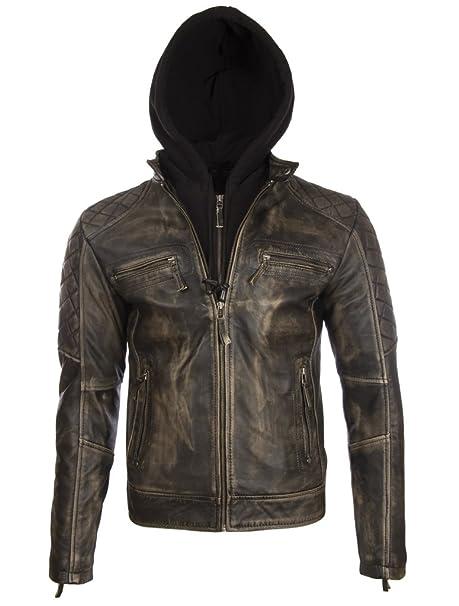 giacca di pelle uomo biker