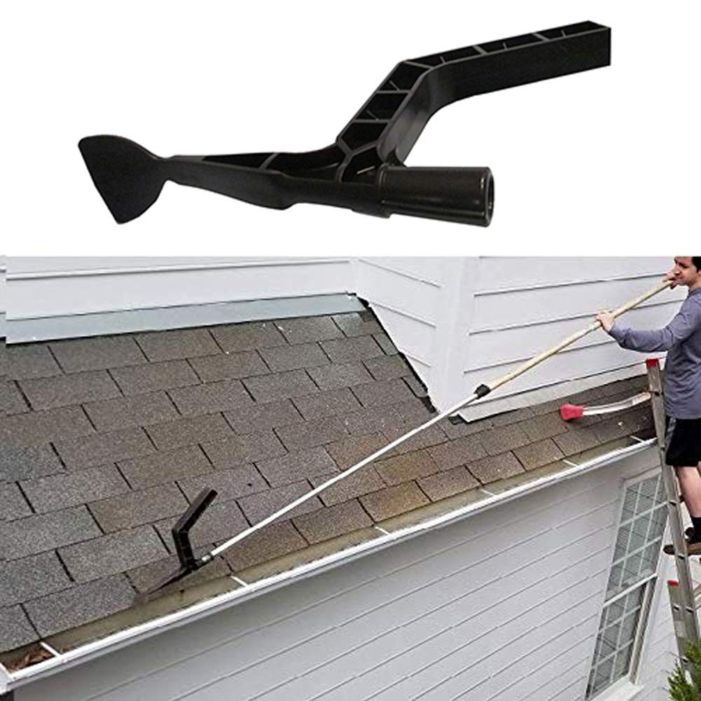 strylin Gutter Tool Gutter Cleaning Scraper Spoon and Scoop Pick Up Debris and Leaves Gutter Cleaning Tool Head for Gutter Guards Cleaning and Garden