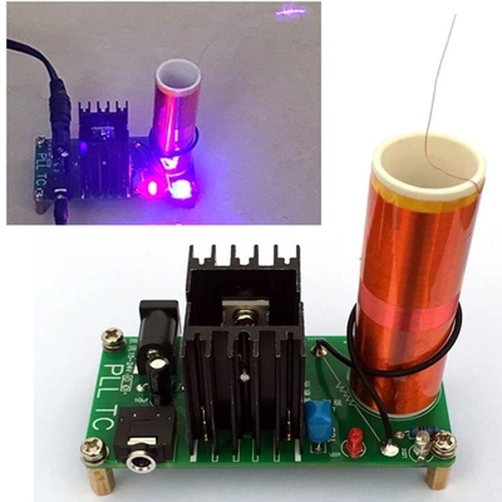 Diy Mini Tesla Coil Kit 15w Music Plasma Doityourself How To Make A Circuit Board Guitar Pick Do It Speaker Wireless Transmission Dc 15 24v Electronic Parts Production