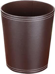 Caf/é TXXCI PU Cubo de Basura Cesto de Papel Bote de Basura Tacho de Basura Cesta de Almacenaje Basurero para Oficina Sala Ba/ño Comedor Cocina Sin Tapa