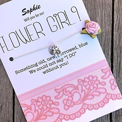 amazon com flower girl gift flower girl invitation cute flower