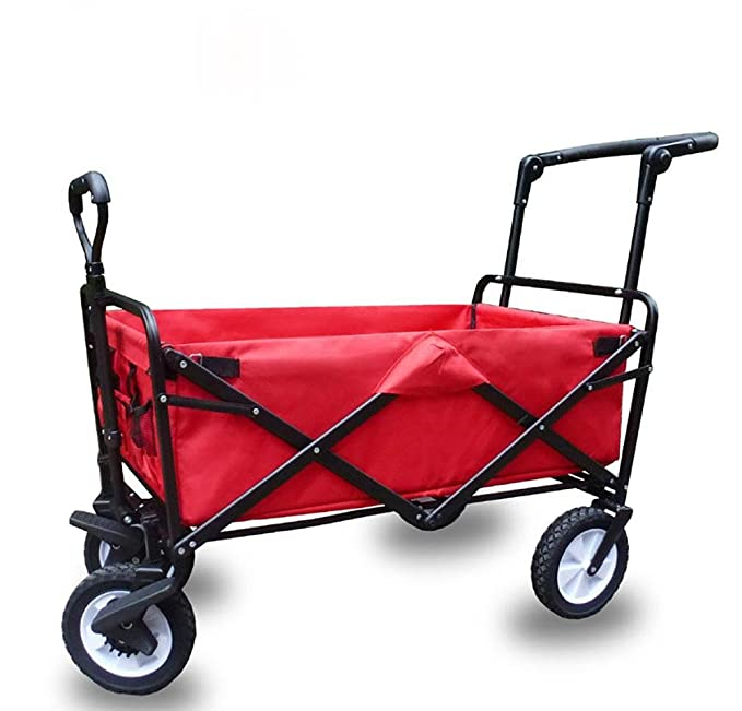 Amazon.com: Shopping Cart Dolly Outdoor Camping Baby carriage Collapsible Portable High capacity Luggage cart Rolling Swivel Wheels , A: Sports & Outdoors
