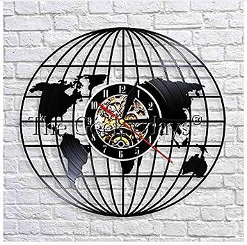 Ayzr 1 Pièce Carte De Voyage Usa Horloge Murale Carte De