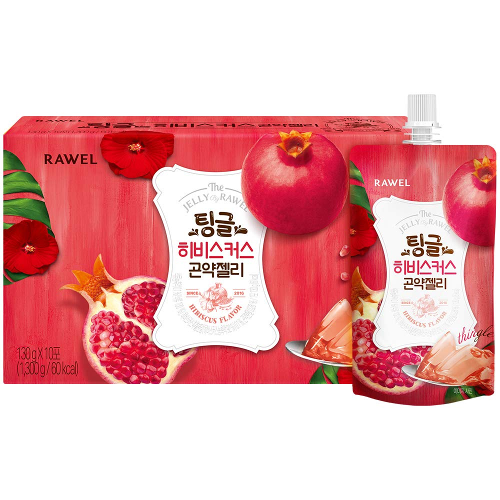 Rawel Delicous Diet Konjac Jelly 1box / 10packs / Dietary Supplement for Weight Loss/Low Calories (Hibiscus & Pomegrante)