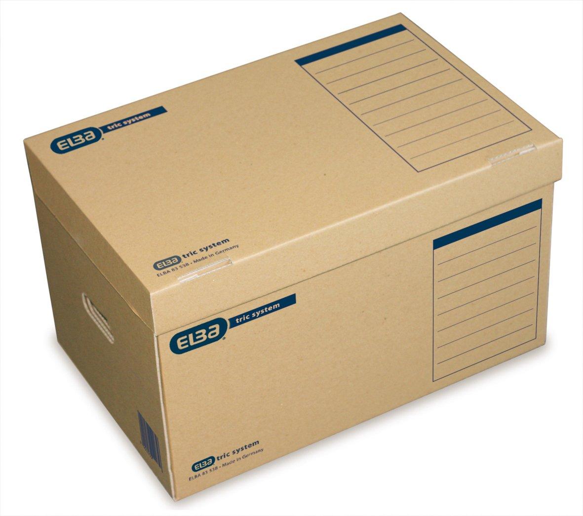 archivado sistem/ático con sistema de leng/üetas, 6 unidades Caja archivadora para colgar Elba Standard 83525 color marr/ón