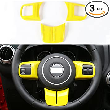 Carbon Fiber Steering Wheel Decoration Trim For Jeep Grand Cherokee 2011-2013