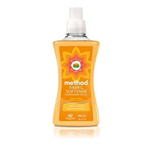 Method Naturally Derived Fabric Softener, Ginger Mango, 45 Loads, 53.5 Ounce