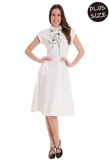 Banned Plus Size Swan Lake Vintage Retro Long Dress - White ...