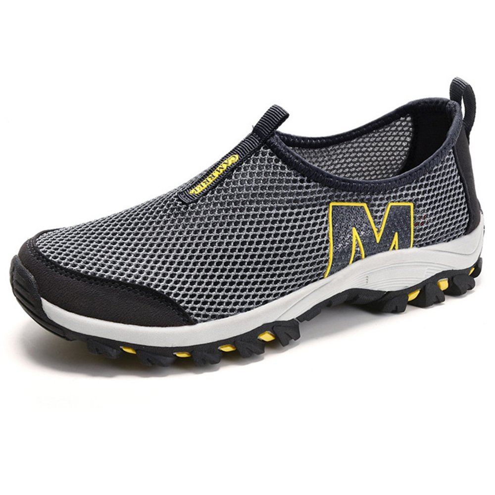 Men's Mesh Athletic Shoes – Perfect For Cycling, Mountain Climbing & Casual Walking F1081-44Gy