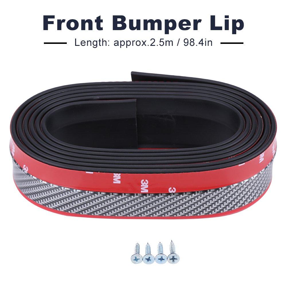 """2.5/"""" x 98/"""" Large Front Bumper Body Spoiler Skirt Rubber Protector Lip Splitter"""