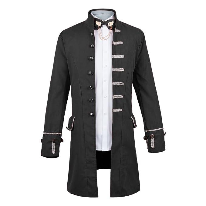 Amazon.com: WULFUL - Chaqueta para hombre, estilo steampunk ...