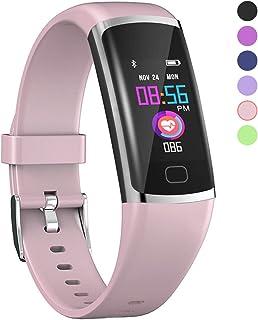 Polywell Fitness-Tracker, Aktivitätstracker mit Herzfrequenz-Monitor und Schlaf-Monitor, Bluetooth, wasserdicht, Schrittzähler und Kalorienzähler für Android und iOS
