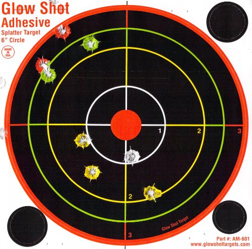 e Multi-Color Reactive Splatter Targets - Glowshot - Gun and Rifle Targets ()