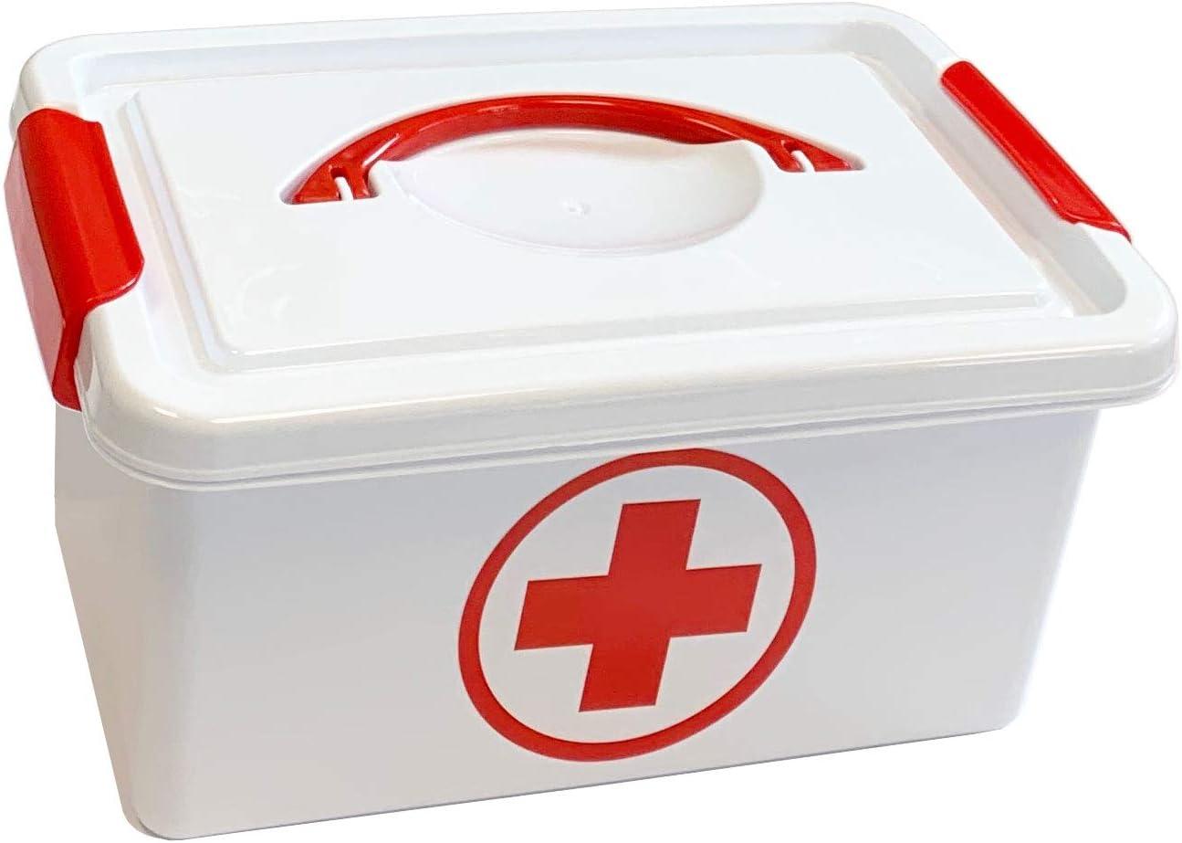 Plastic Forte Caja botiquín Primeros Auxilios con Tapa 4L. de Capacidad: Amazon.es: Hogar