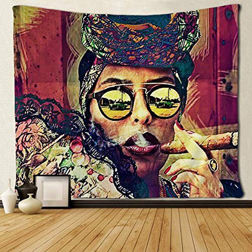 - SARA NELL Tapestry African American Women Art Tapestries Wall Art Hippie Bedroom Living Room Dorm Wall Hanging Throw Bedspread 50