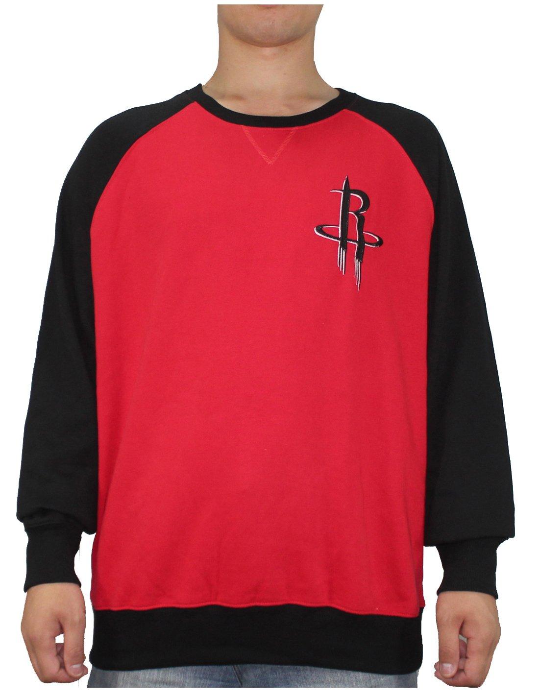 NBA Mens HOUSTON ROCKETS: Athletic Pullover Sweatshirt XL Multicolor