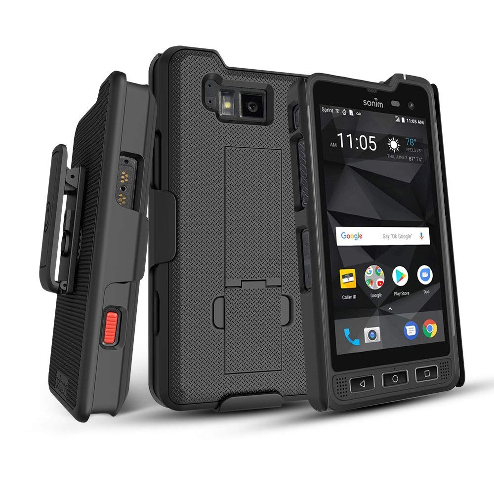 BELTRON Sonim XP8 Case with Holster, Heavy Duty Belt Clip with Swivel Clip for Sonim XP8 (AT&T FirstNet Sprint XP8800) - Secure Fit & Built-in Kickstand (Durable, Reliable & Lightweight) - Black