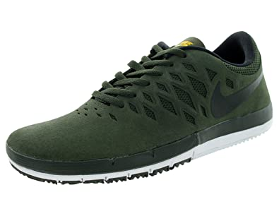 online retailer 7d08e 427e9 Nike Men s Free SB Sequioa Black University Gold Skate Shoe 7.5 Men US