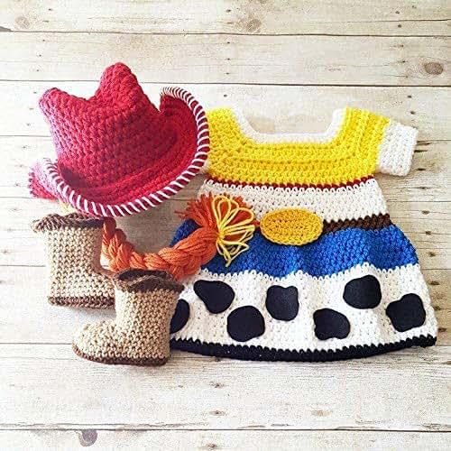 7703b6200a7 Amazon.com  Crochet Baby Jessie Dress Toy Story Skirt Cowgirl Hat ...