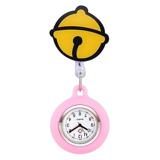 manifo Relojes Enfermeras FOB Reloj Pulso Reloj Nurse Watch Bata Reloj silicona dibujos animados Campana Reloj de bolsillo Enfermera Rosa Claro: Amazon.es: ...